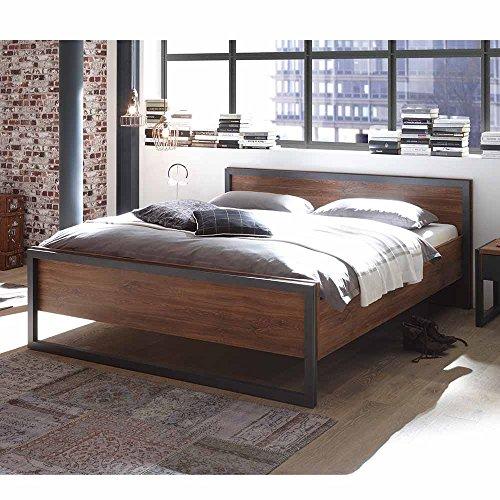 Pharao24 Komfortbett im Loft Design Eiche Dunkel Ausführung 2