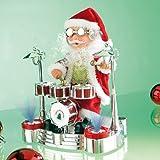 infactory Singender Schlagzeuger-Weihnachtsmann mit LED-Lightshow - 2