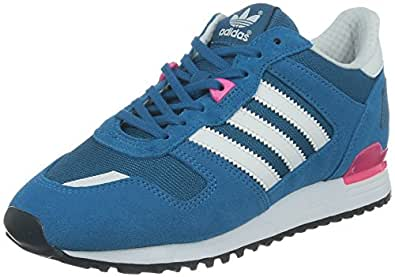 adidas Zx 700, Baskets mode femme - Bleu (Hero Blue F13/Running White Ftw/Neon Pink), 38 EU