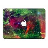 Weltraum 10154, Kosmos, Skin-Aufkleber Folie Sticker Laptop Vinyl Designfolie Decal mit Ledernachbildung Laminat und Farbig Design für Apple MacBook Pro Retina 13