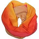 ManuMar Loop-Schal für Damen | feines Hals-Tuch mit Farbverlauf-Motiv als perfektes Sommer-Accessoire | Schlauch-Schal - Das ideale Geschenk für Frauen