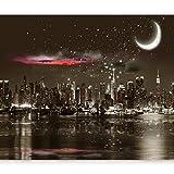 murando - Fotomurali 350x256 cm Carta da parati sulla fliselina - Carta da parati in TNT - Quadri murali XXL - Fotomurale - notte Citta Metropolia New York d-A-0044-a-a