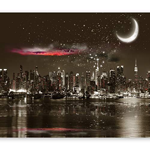 murando - Papier peint intissé - 350x256 cm - Papier peint - Trompe l oeil - Tableaux muraux - Déco - XXL- Nuit City Ville New York d-A-0044-a-a