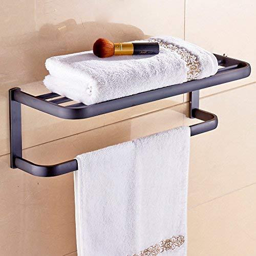 WSX Tap El toallero de latón baño de Oro toallero Racks Ornamentos Antiguos, Kit de baño Negro-Cobre Viejo