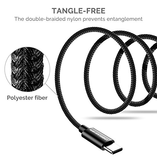 UNBREAKcable USB Type C Cable [6. 6ft, 2M] Nylon Braided