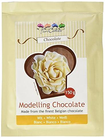 FunCakes Modellierschokolade, weiß, 1er Pack (1 x 150 g)