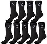 Hummel 9er Pack Socken Unisex Sportsocken (schwarz, 41 - 45 (Size 12))