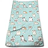 vintage cap Cute Kittens Kitchen Towels - Dish Cloth - Machine Washable Cotton Kitchen Dishcloths,Dish Towel & Tea Towels for Drying,Cleaning,Cooking,Baking (12 X 27.5 Inch)