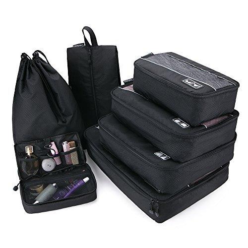 Tramean 7 Set Packing Cubes, organizadores de equipaje de viaje a prue