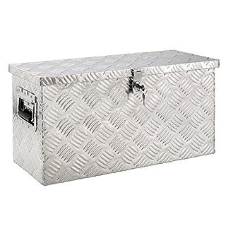 Arebos Boite de Rangement/Boîte à Outils en Aluminium/Pour Remorque / 40 L / 2 Clés
