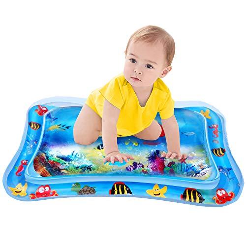 Baby Wassermatte,Outivity Aufblasbare Bauchzeit für Säuglinge und Kleinkinder, perfektes Spaßzeitspiel Aktivitätszentrum für das Stimulationswachstum Ihres Babys