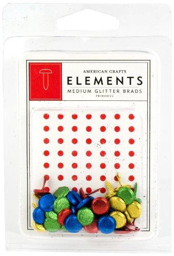 American Crafts Elements Medium Glitter Brads, Vorwahlen - American Crafts Elements Brads