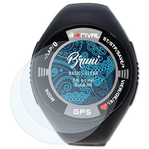 Bruni Schutzfolie kompatibel mit a-Rival SpoQ HR Folie, glasklare Displayschutzfolie (2X)