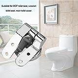 Toilettendeckel Toilettensitz Scharniere Befestigungssatz Ersatzteil zur Reparatur Rostfrei Befestigung Zink Legierung für WC Deckel