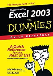 Excel 2003?For Dummies Quick Reference by John Walkenbach (2003-10-17)