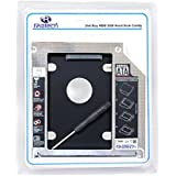 RiaTech® Hard Drive SATA 2nd HDD Caddy Tray for Unibody 9.5mm Laptop CD/DVD-ROM Drive Slot (Replacement Only for SSD and HDD)