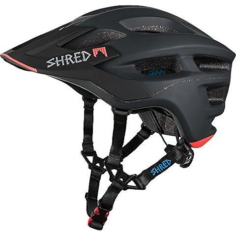 Shred casco Short Stack Credit Card, Unisex, Helm Short Stack Credit Card, Charcoal/Rust, XS / S