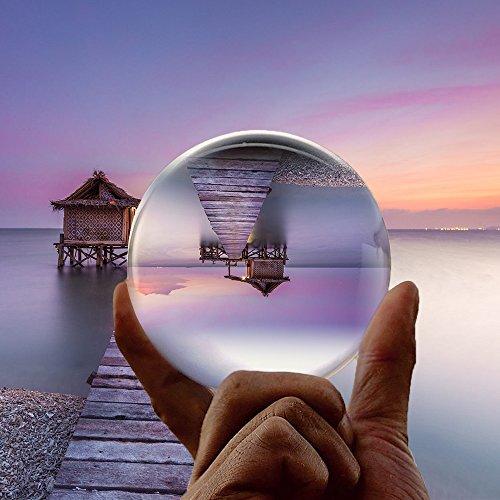 Vinida 80mm K9 Kristallkugel Klare Kugel Glaskugel Scrying Kugel Ball Feng Shui/Wahrsagerei oder Hochzeit Fotograf Qualität/Home/Office Dekoration (Und Raum Riss In Zeit)