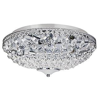 [lux.pro] Deckenleuchte Kunst-Kristalle [Ø40cm] Kristalleuchte Deckenlampe Lampe