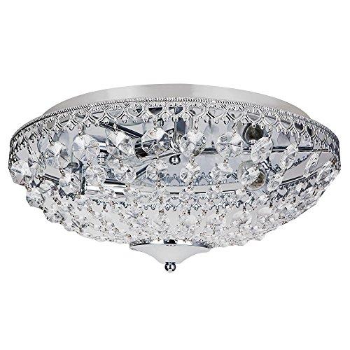 [lux.pro] Deckenleuchte Kunst-Kristalle [Ø40cm] Kristalleuchte Deckenlampe Lampe (Kristall-deckenleuchten)
