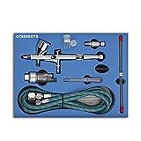 CYBERNOVA SP180K Professional Kit doppia azione trigger aria dipingere controllo Airbrush CON 0,2 / 0,3 / 0,5 millimetri ago della spazzola di aria pistola a spruzzo per il trucco Modello smalti Body Art