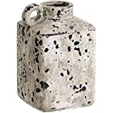 LVLUOYE Florero Artes y artesanías floreros de cerámica Decorada Botella Gris rústico