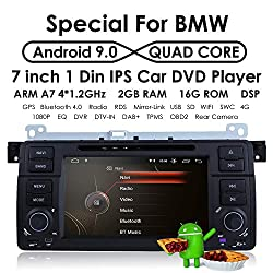 Android 9.0 DVD Player GPS Navigation OS Quad Core 1024600 HD Touchscreen Car Radio for BMW 3 Series E46 M3 318 320 325 330 335 ...