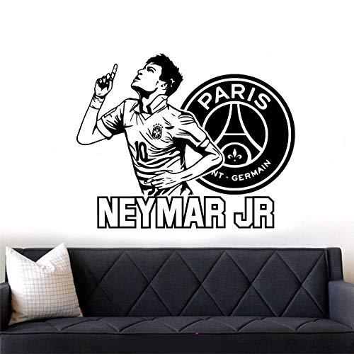 Neymar Jr Football Star Cita Wall Art Sticker Decal Diy Kindergarten Boy Vinilo Desmontable Decoración Para El Hogar Decoración De Pared 73 X 58 Cm