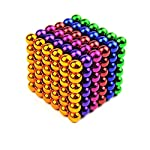 5mm 216pcs colorful buck ball square magnet magic cube puzzle educational toys  children's smart toy
