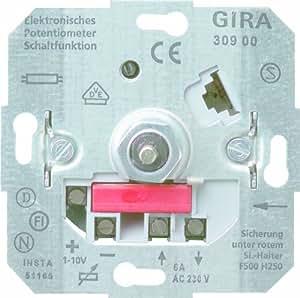 gira 030900 potentiometer 1 schaltfunktion 10 v einsatz. Black Bedroom Furniture Sets. Home Design Ideas