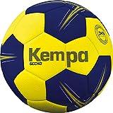 Kempa Gecko-Ballons de Handball Taille 2 Adulte Unisexe, Jaune Citron/Bleu Profond, 2