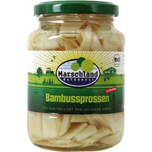 Marschland Bambussprossen im Glas (350 g) - Bio