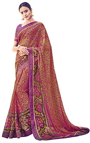 Beige Colour Brasso Saree
