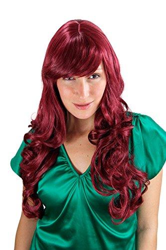 ftige Locken rot-lila wig ca. 60cm 285-39 60cm (Große Rote Perücke)