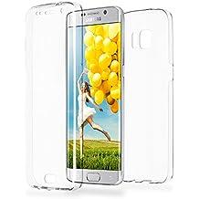 Caso doble para Samsung Galaxy S6 Edge | Funda de silicona transparente cubre todo | Delgada 360° completa casos del smartphone OneFlow | Back Cover en Transparent