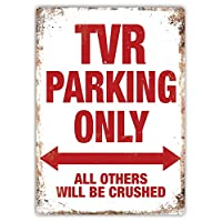 43LenaJon Metal Wall Sign TVR Parking Only