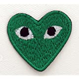 Orphie GAR COMME des? ONS CDG-PLAY green transfert fer Sew on Patch