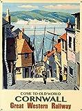 Mr.sign Old World Cornwall Blechschilder Vintage Metall