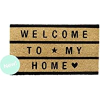 Dcasa - Felpudo de fibra de coco Welcome To My Home negro 40x70