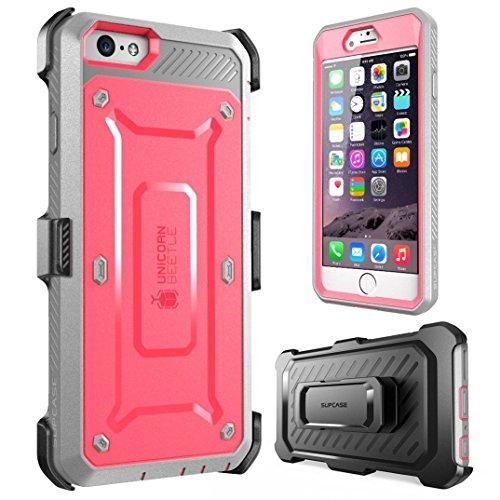 SUPCASE Hülle, Apple iPhone 6 Plus / 6S Plus (5.5 Zoll Display) Gehäuse, Unicorn Beetle PRO Serie mit integrierter Displayschutzfolie + Gürtelclip Holster Pink