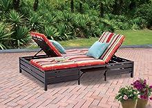 Doble Chaise tumbona-este rojo rayas al aire libre Chaise Lounge es cómodo sol muebles garantizada que también se puede utilizar en su jardín, cerca de su piscina, o en su cubierta o césped. La Chaise Longue o longe es un gran sillón reclinable sof