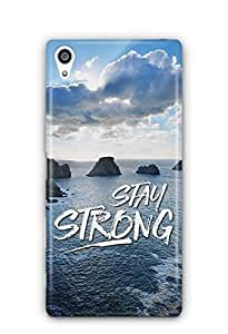 YuBingo Stay Strong Designer Mobile Case Back Cover for Sony Xperia Z5 Premium