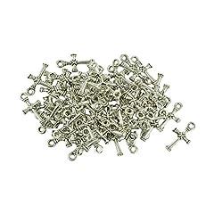 Idea Regalo - MagiDeal 50 Pezzi 3D Croce Fascio Charms Ciondoli di Argento Tibetano DIY Collana