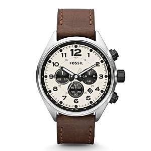 Reloj Fossil CH2835 de cuarzo para hombre con correa de piel, color marrón de FOSSIL
