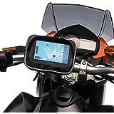 UltimateAddons motocicleta metal U-Bolt para bicicleta soporte y resistente al agua GPS funda para Garmin Nuvi y unidad Serie