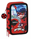 Ladybug Miraculous Astuccio Triplo 3 Zip Accessoriato Scuola Bambina Ragazza