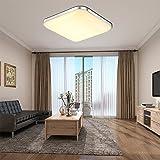 ETiME LED Deckenleuchte 12W Deckenlampe Warmweiß Modern Wohnzimmer Lampe Schlafzimmer Küche Panel Leuchte Silber (30x30cm 12W warmweiß)