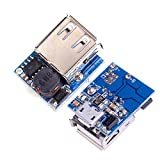 #4: xcluma 5V Lithium Battery Charger Step Up Protection Board Boost Power Module Micro USB Li-Po Li-ion 18650 For Power Bank DIY