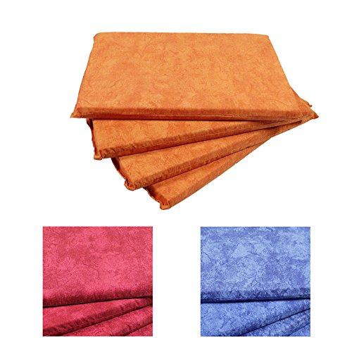 Auflagen 4 Sitzkissen für die Bierbank Polster aus 50% Baumwolle, 50% Polyester Outdoor Kissen Set 25 x 36 cm