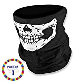 #9: Genxtra® Skull Face 13 In 1 Multinational Head Wrap / Bandana (1)